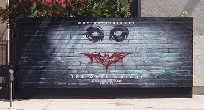 The Dark Knight Joker - Why so serious wall mural on Melrose Avenue