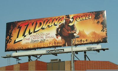 Indiana Jones and the Kingdom of the Crystal Skull movie billboard