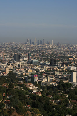 View of Downtown Los Angeles from Runyon Canyon