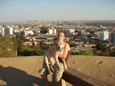 Runyon Canyon Cooper & Jason in Hollywood