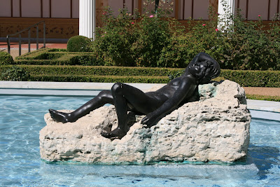 Bronze statues Outer Peristyle Getty Villa