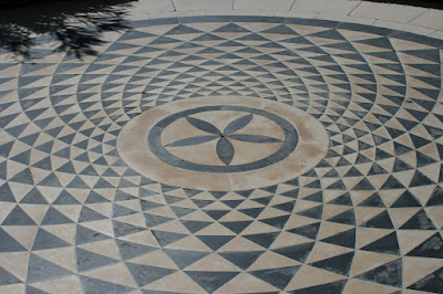 The Getty Villa mosaic flooring