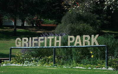 Griffith Park entrance sign