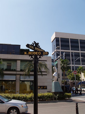 The infamous Rodeo Drive in Beverly HIlls