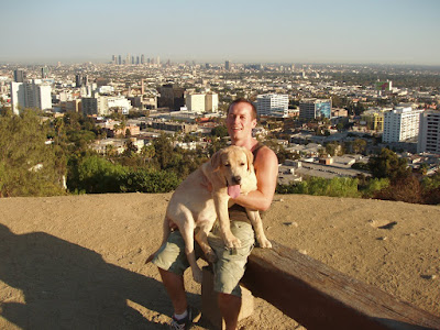 Cooper & Jason overlooking L.A.