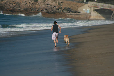 Beach running at Sycamore Cove