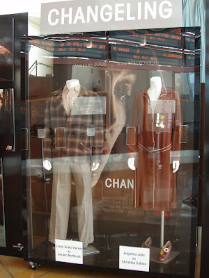 Changeling film costumes on display at Arclight Hollywood foyer