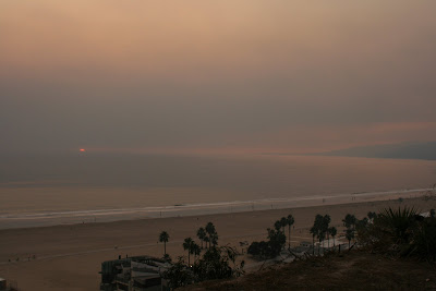 Santa Monica ocean view sunset
