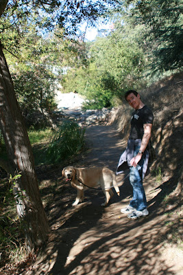 Cooper & Charlie on the Franklin Canyon Park trail