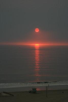 Spectacular Santa Monica sunset