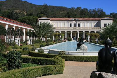 The mock-Roman Getty Villa in Malibu