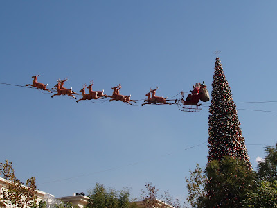 Flying Father Christmas Sleigh