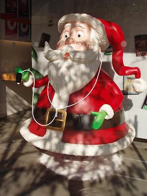 Apple store Santa