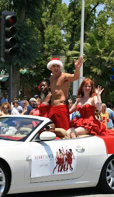 Hunky Santa at WEHO Gay Pride 2008