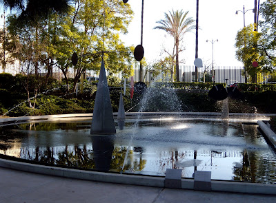 Contemporary garden fountain at LACMA