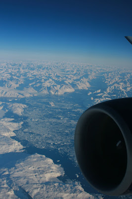 View of Greenland from the plane