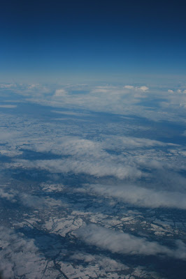 Above the clouds of snowy Britain