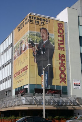Bottle Shock movie billboard in Los Angeles