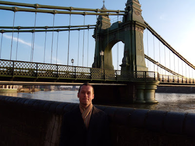 Jason at Hammersmith Bridge by the River Thames