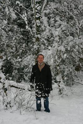 Jason braving snowy London
