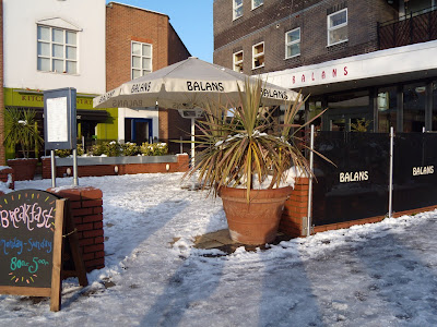 Balans Chiswick in the snow in February