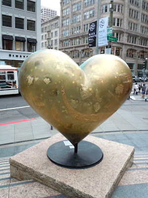 Keiko Nelson Heart and Heart sculpture reverse