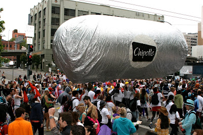 Chipotle balloon Bay to Breakers 2010