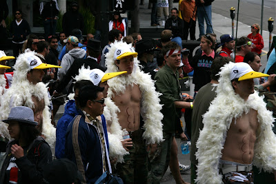 Buff boy birds Bay to Breakers 2010