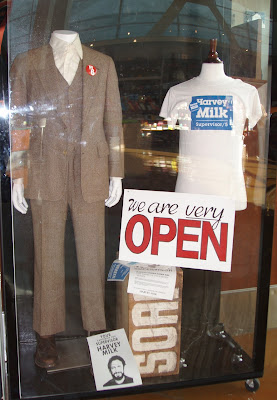 Actual MILK movie costumes on display