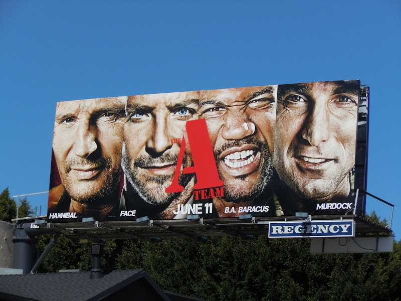The A-Team movie billboard