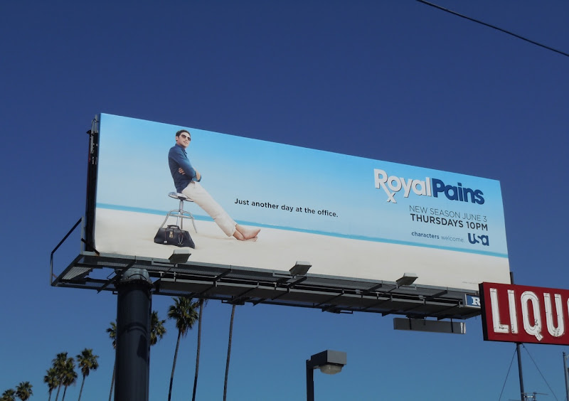 Royal Pains Just another day in the office billboard