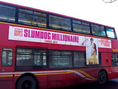 Slumdog Millionaire movie bus poster