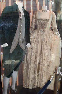 Film costumes from the movie The Duchess on display at ArcLight Hollywood