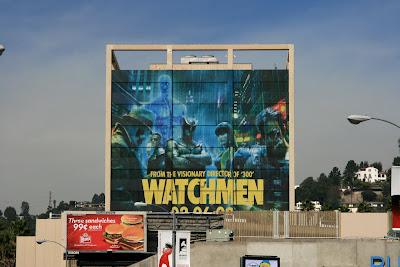 Large Watchmen Rorschach movie billboard