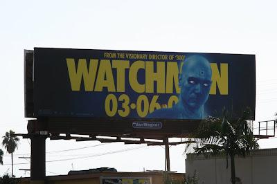 Watchmen movie Dr Manhattan billboard