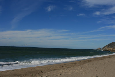 Blue skies over Sycamore Cove