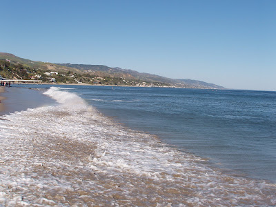 Waves at Paradise cove in Malibu