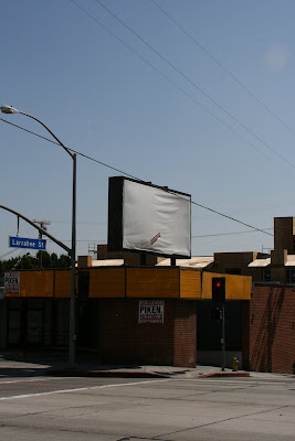 Blank billboard on Sunset Boulevard