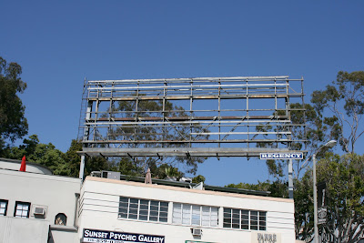 Empty billboard in Los Angeles