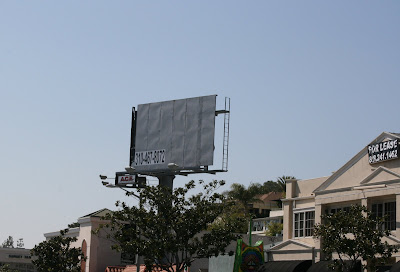 Empty billboard on Sunset Blvd