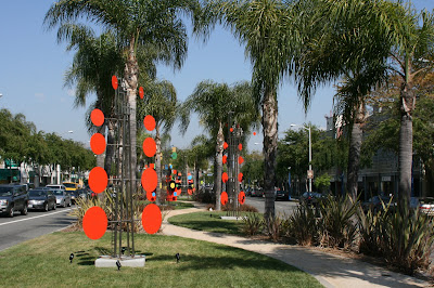 Sculptures on Santa Monica Blvd in West Hollywood