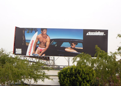 AussieBum male underwear billboard in West Hollywood