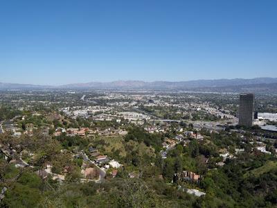 Mulholland Overlook view of San Fernando Valley