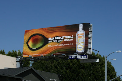 Absolut Mango vodka billboard