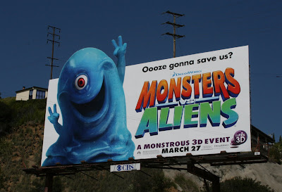 Monsters Vs Aliens movie billboard