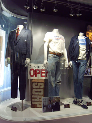 MILK movie costumes on display at Universal Studios