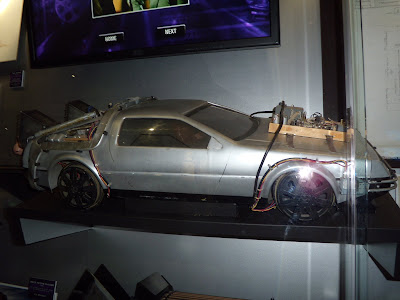 Back to the Future DeLorean car model movie prop