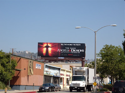 Angels & Demons billboard on Fairfax Avenue