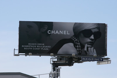Chanel billboard on Sunset Blvd