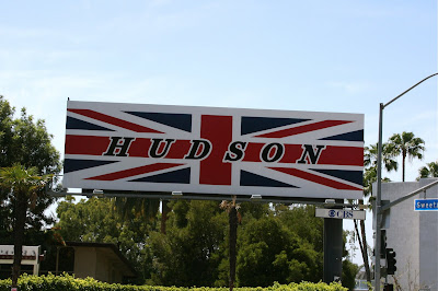 Hudson jeans Union Jack billboard